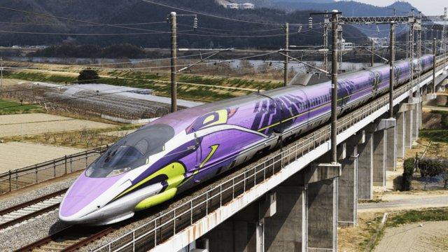 Eine letzte Fahrt im Evangelion-Shinkansen