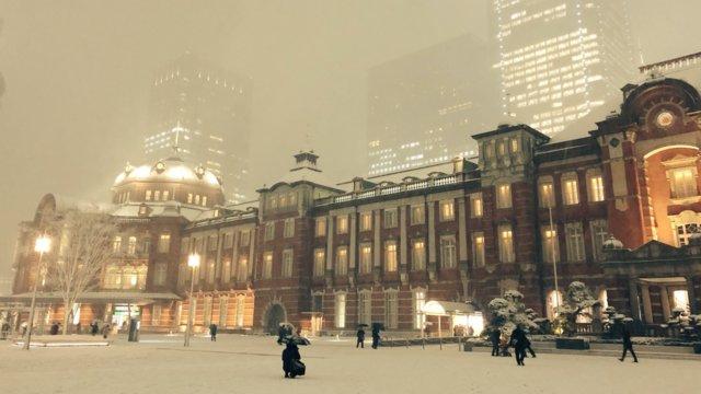 Schnee in Tokio