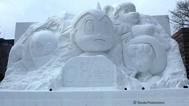 Japanische Schneekunstwerke
