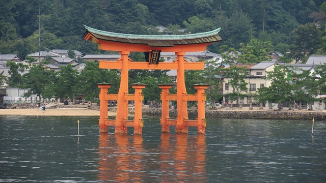 Risse im Torii von Miyajima