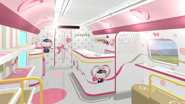 Ein Einblick in den  «Hello Kitty»-Shinkansen