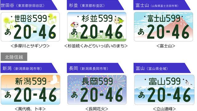 Wahrzeichen auf den Nummernschildern