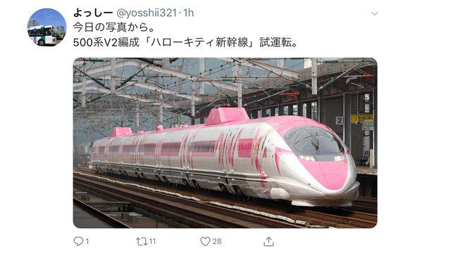 Der  «Hello Kitty»-Shinkansen ist da