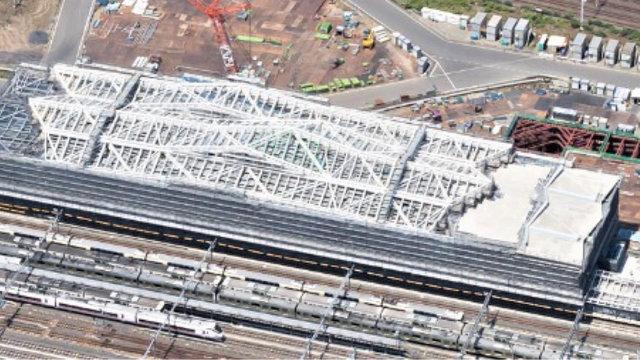 Die neue Station auf der Yamanote-Ringlinie