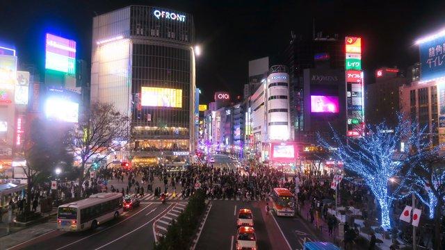 Eine Nacht in Shibuya