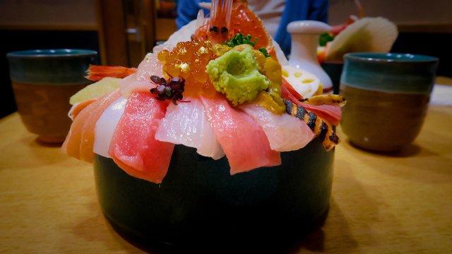 Kaisendon im Fischmarkt von Kanazawa
