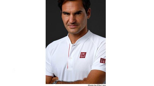 Roger Federer trägt Uniqlo