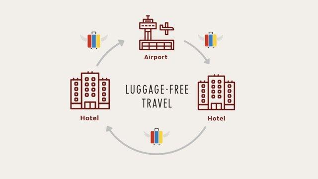 Reisen ohne schweres Gepäck in Japan