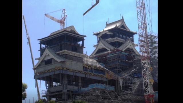 Die schwebende Burg von Kumamoto