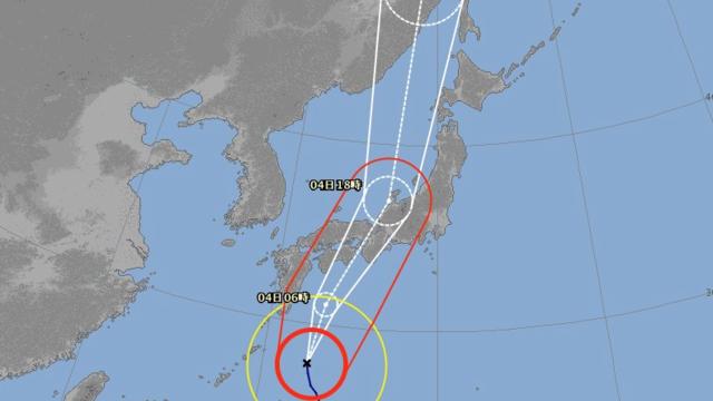 Die Taifun-Prognosekarte