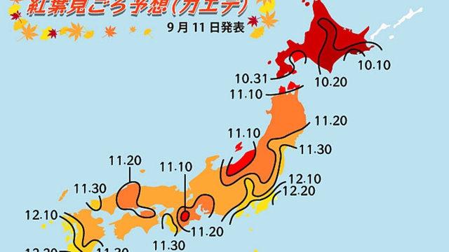 Japans erste Herbstlaub-Prognose