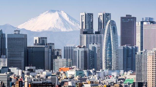 Wo man den Fuji aus der Ferne sieht