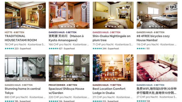 Airbnb-Krise in Japan: 5 Monate danach