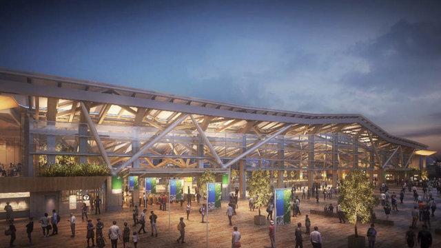 Der neue Yamanote-Bahnhof