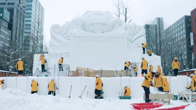 Das Sapporo-Schneefestival