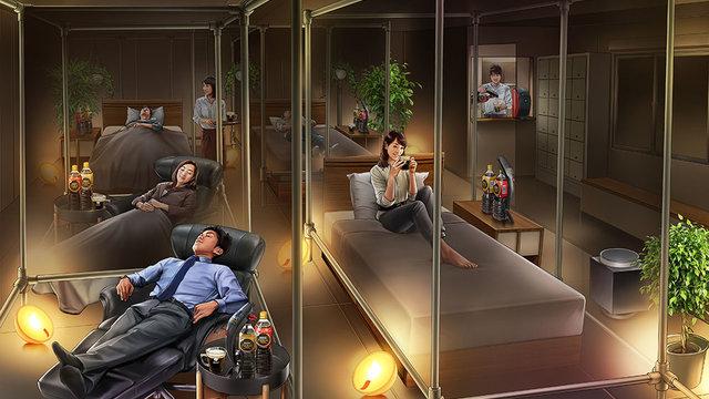 Ein Schlaf-Café für das schlaflose Tokio