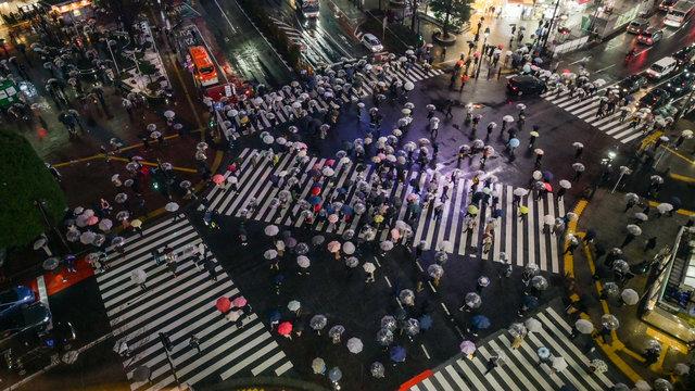 Regenschirm-Sharing in Tokio