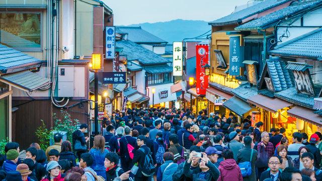 Die Besucherstau-Karte für Kyoto
