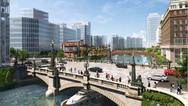 Die Nihonbashi-Brücke der Zukunft