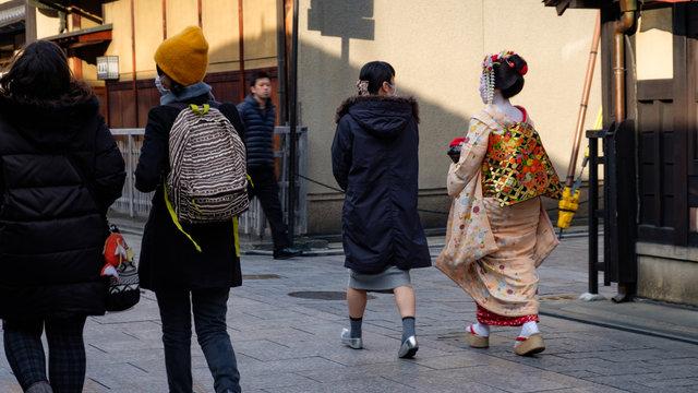 Anstandsregeln für das Geisha-Viertel in Kyoto