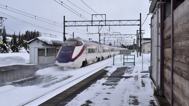 Mit dem Mini-Shinkansen nach Yamagata