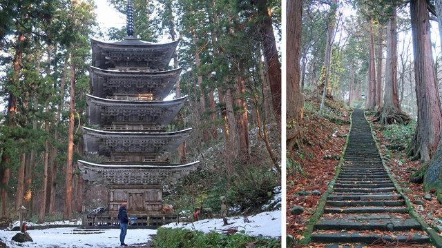 2446 Stufen zum heiligen Berg Haguro