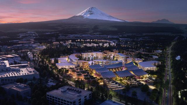 Die Stadt der Zukunft am Fusse des Fuji