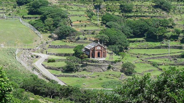 Die Kirche auf der verlassenen Insel