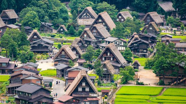 Shirakawago ohne Touristen