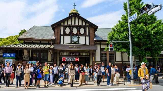 Der alte Bahnhof Harajuku: Abriss und Wiederaufbau