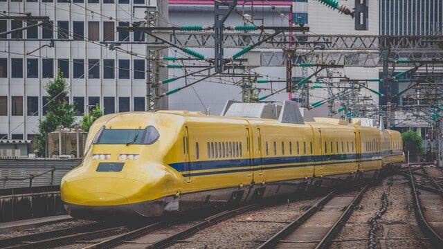 Der gelbe Shinkansen