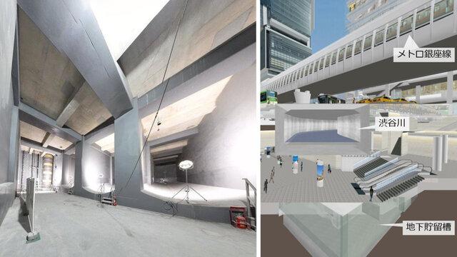 Shibuyas riesige Halle im Untergrund