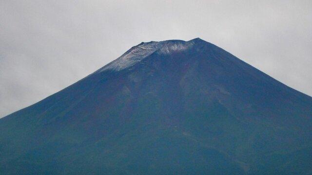 Der erste Schnee auf dem Fuji