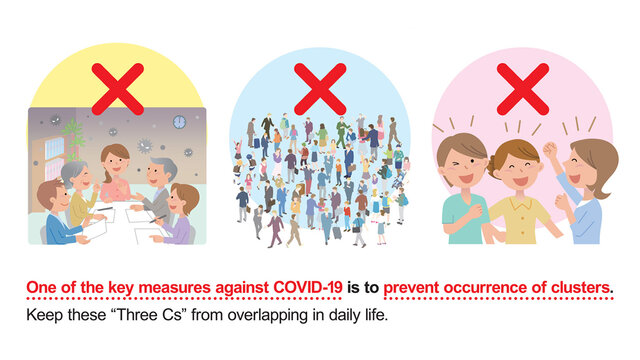 Covid-19: Die 3-C-Regel in Japan