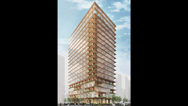 Hochhäuser aus Holz für Tokio