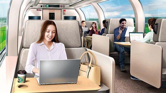 «Shinkansen Office»: Ein Arbeitsplatz im Shinkansen