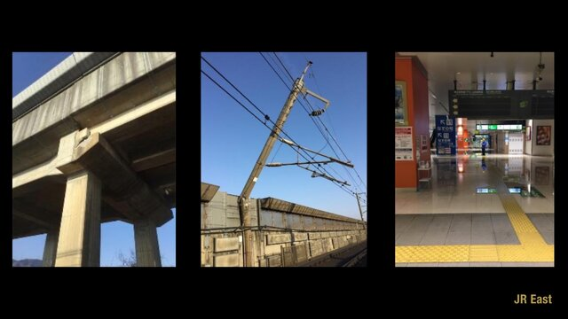Der Tohoku-Shinkansen nach dem Erdbeben