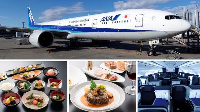 Ein Langstreckenflugzeug wird zum Restaurant