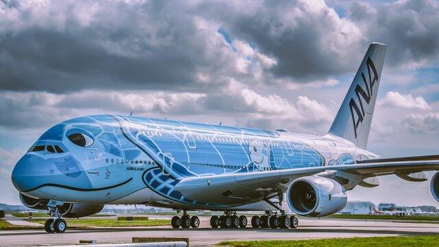 Spezialeinsätze für die A380 von ANA