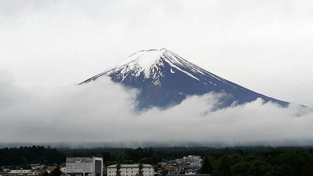 Wenn die Schneekrone auf dem Fuji schmilzt