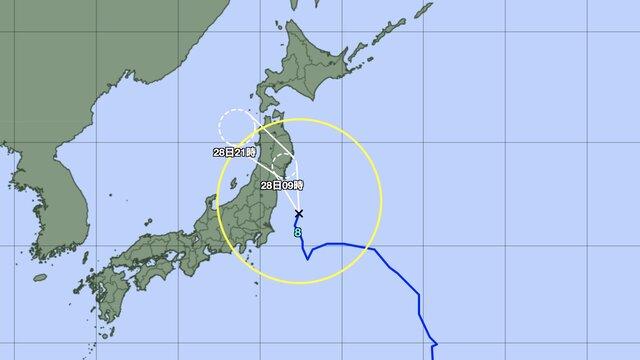 Ein Taifun nähert sich der Olympiastadt