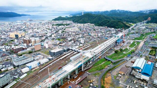 Die Entstehung eines Shinkansen-Endbahnhofs